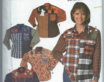 Simplicity 7505 Misses' Shirt with Appliques - Size 12-14-16 - Uncut Pattern