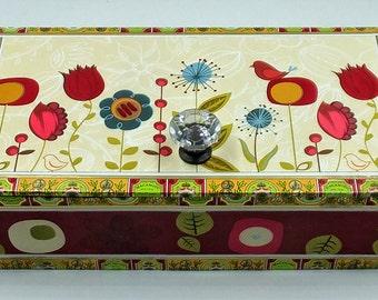 Box, Keepsake Box, Jewelry Box, Storage Box, Gift Box, Cigar Box, Recycled Cigar Box,  Box, Repurposed Box, Birds Keepsake Box