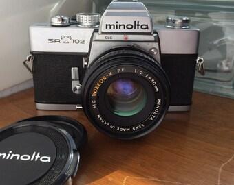 Minolta SRT102 SLR 35mm camera-