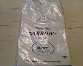 Vintage White Mens Arrow Shirt Deadstock NOS HITT Sanforized Cotton Convertible Cuffs 16-32