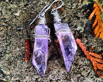 Ametrine Dagger Earrings