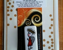 ANGEL BLESSING 14, Angel in your pocket to remind you that you are never alone. Signed, numbered and dated. No two alike.