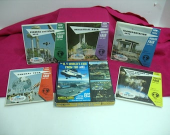 Vintage Lot of New York Worlds Fair 1964 Viewmasters Most Still Sealed & 1 8mm Film in Box NOS View master Sawyers