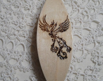 Tatting shuttle with engraved Phoenix 3""