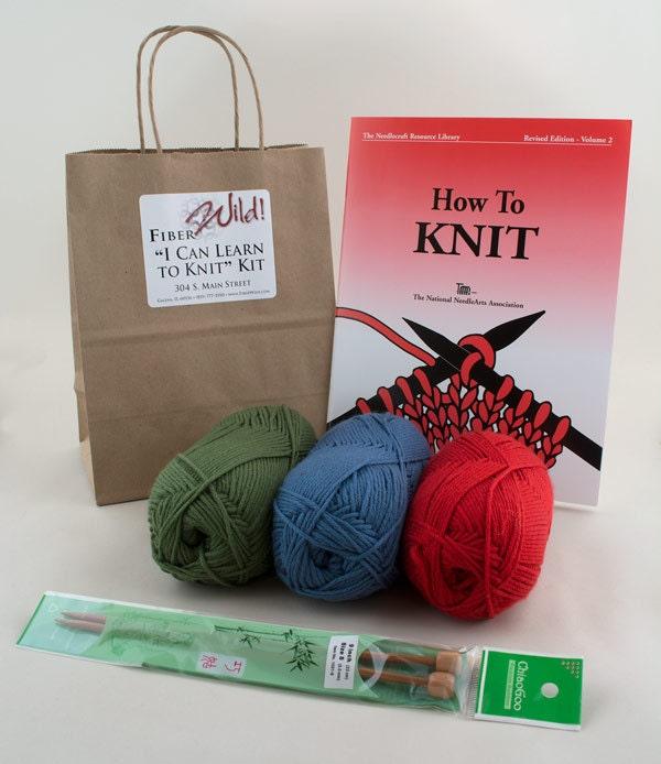 Beginner Knitting Kits Canada : I can learn to knit kit from fiberwild on etsy studio