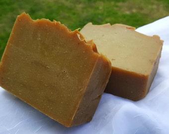 Spiced Pumpkin w/ Pumpkin Puree - Gourmet Soap Bar - 5 oz