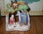 CERAMIC NATIVITY SET for Tree Mantle or Table