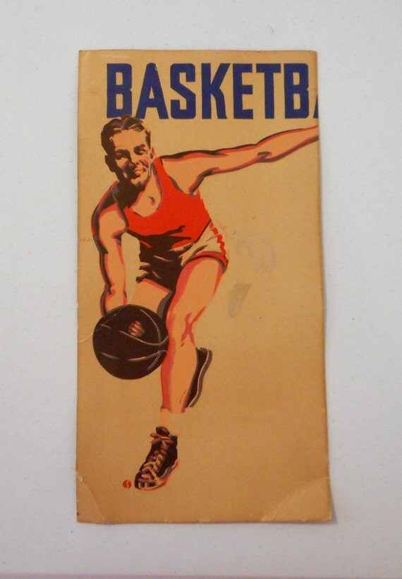 Vintage basketball poster advertisement athlete wall decor for Vintage basketball wall art