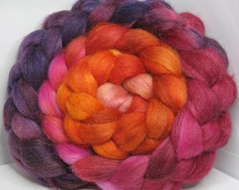Merino/Baby Alpaca/Tussah 50/30/20 Roving Combed Top - 5oz - Volcanic Orchid 2