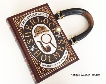 Sherlock Holmes Book Purse - Sherlock Book Cover Handbag - Sherlock Pocket Book Clutch