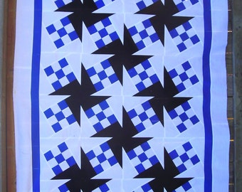 Whirling 9-Patch Quilt Pattern