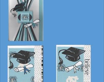 Handmade NorthCarolina Tarheels Graduation Cards - NC Congratulations Cards - Free shipping in USA