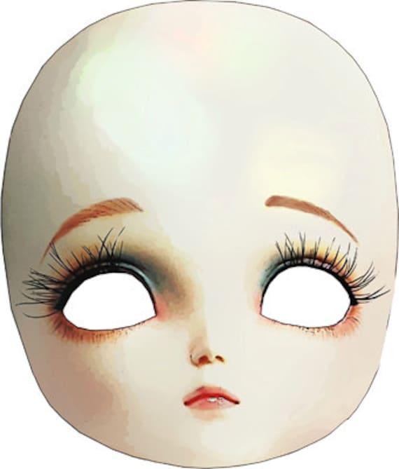 creepy mask porcelain doll head clipart png clip art Digital Image Download toy clip art graphics printables