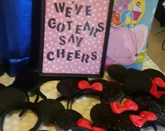 Minnie Mouse Birthday Party Signs