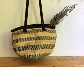 Woven Jute Striped Market Sisal Bag