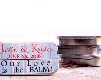 Custom Wedding Favors – Custom Lip Balm – Wedding Guest Gifts – Personalized Favors – Inexpensive Wedding Favors – Unique Wedding Favor Idea