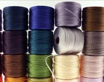 Super Lon No 18 SLon Beading Cord 77 Yard Spool Bead Thread Kumihimo Macrame Jewelry - A - O Colors