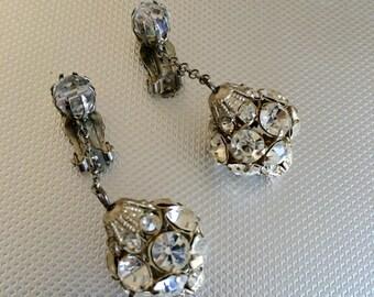 Art Deco Rhinestone Earrings Great Gatsby Wedding Bridal Jewelry 1920s 1930s