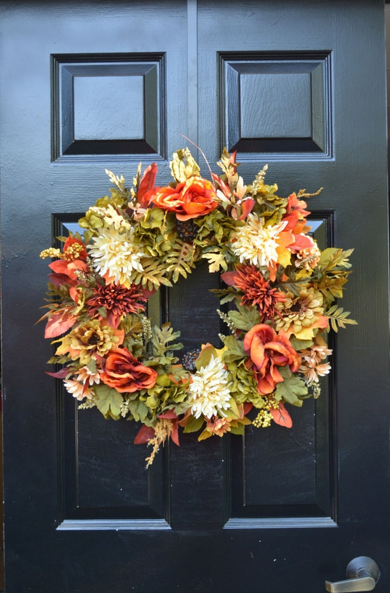 Year Round Wreath-Fall Wreath- Fall Floral Wreath- Front Door Decoration- Indoor Wreaths