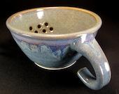 Berry Bowl Sink- Blue Berry Bowl Colander- Berry Colander- Ceramic Berry Bowl- Colander- Strainer- Ceramic Colander- Berry Basket- InStock