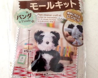 Craft Kit, DIY, Crafting Kit, doll, panda, black, white, wool, wire, animal, toy, figure, children, kid, cute, figurine, zoo, craft, soft