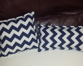 Minky backed neck pillow, or nursery pillow, small pillow, accent pillow