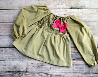 SALE! READY to SHIP! Anna Peasant Top