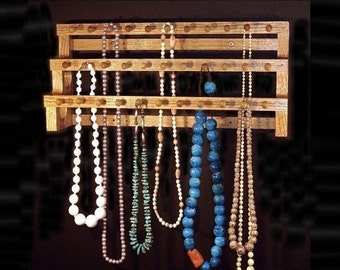 MEMORIAL DAY SALE 18 Inch Large Necklace Holder W/1 Inch Pegs Jewelry storage Jewelry Display Jewelry Holder
