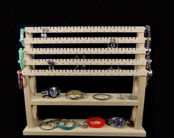 Standing bracelet holder organizer storage by spiritranchcreations - Pre Christmas Sale Hanging Combo Jewelry By