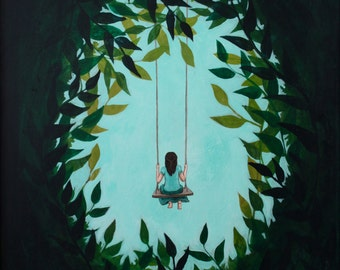 A Place Of Her Own - Fine Art Print of Original Painting