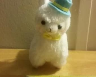 Top hat llama alpaca plush, Japanese Keychain, Plush Keychain, Kawaii Plush, Kawaii Plushie, Japan Plush, Emoji, Japanese Plush, Plush strap