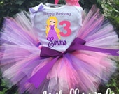 Rapunzel Birthday Tutu Outfit - Rapunzel Tutu Set
