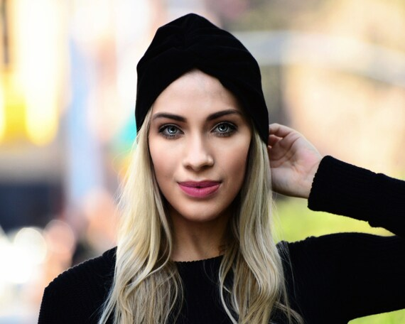 Black Suede Turban Hat Fall Fashion Winter Accessories Women's Hat Winter Turban Hat Genuine LeatherTurban Hat Warm Hat Genuine Suede Hat