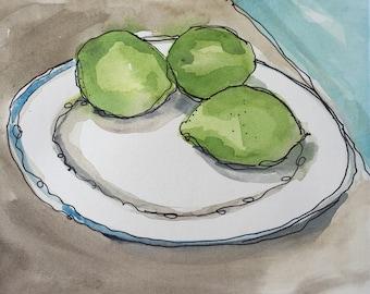 Limes on a Plate