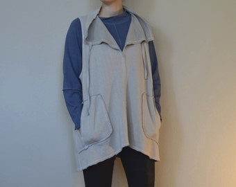 Hemp and Organic Cotton Pullover Fleece Vest