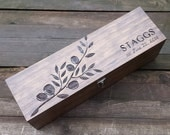 Wine box wedding, wedding wine box, wine box ceremony, personalized wine box, wedding memory box, anniversary wine box, olive branch, gift