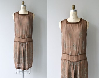 Hidden Clover dress | vintage 20s cotton dress | antique 1920s dress
