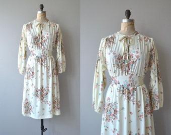 Endless Spring dress | vintage 1970s floral dress | floral print 70s peasant dress