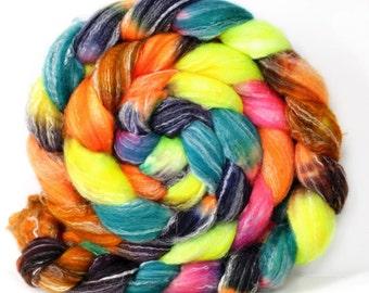 Technicolor 6 oz Panda Top Merino/ Bamboo/ Nylon Superwash roving for spinning