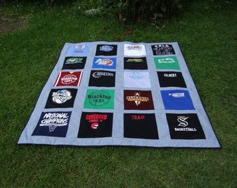 Tshirt Memory  Quilt Full Size Bed Quilt made with your own Tshirts
