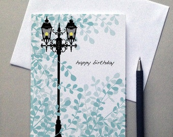 Birthday Lamppost Card,