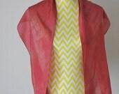 New hand dyed Habotai silk scarf 'Red Divine'