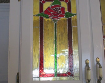 Stained glass Large Rose Plaque