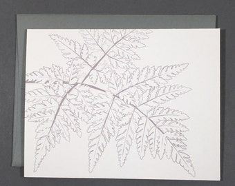 Fern Coloring Card