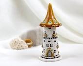 Honey-Turquoise tower of tiny fairies -- unique Hand Made Ceramic Eco-Friendly Home Decor by studio Vishnya