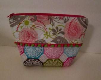 One of a Kind, Cosmetic Bag, Zippered Pouch, Makeup Bag, by LBs Sewing Sanity