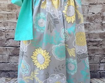 Grey floral Pillowcase dress