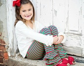 Triple Ruffle Leggings Girls size 6 month to 9/10  STRIPES. Amazing quality. Special pricing Reg 36.00