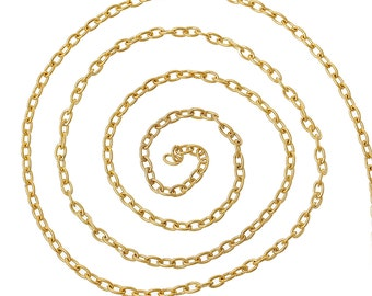 Gold Cable Chain - 32 feet - #CH59663