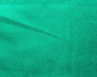 Turquoise Faux Suede Fabric / Microsuede / Suedette - Large Fat Quarter - Vegan Suede
